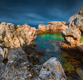 Evening on the cape Milazzo — Stock Photo