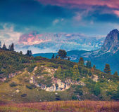 Landscape on the Sass De Stria mountain range. — Stok fotoğraf