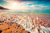 Azure Mediterranean sea at sunny morning — Stock Photo