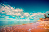 Azure Mediterranean sea at sunny morning.  — Stock Photo