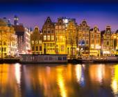 Night view of Amsterdam city — Stock Photo