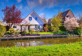 Tipical Dutch village Zaanstad — Stock Photo