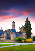 Sunset in the Wilhelmshohe Castle — Stock Photo