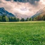 Panorama of Triglav mountain range — Stock Photo #74105545