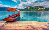 Lake Bled in Julian Alps — Stock Photo