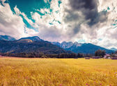 Triglav mountain range — Stock Photo