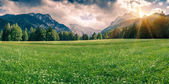 Panorama of Triglav mountain range — Stock Photo