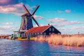 Channel in Zaanstad village — Stock Photo