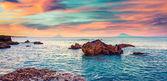 Sunrise on the Mediterranean sea — Stock Photo