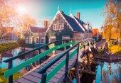 Tipical Dutch village Zaanstad — Stock Photo