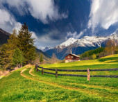 Landscape in the Swiss Alps. — Stock Photo