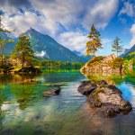 Hintersee lake in Austrian Alps. — Stock Photo #79908808