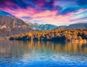 Bohinj lake in Triglav national park — Stock Photo