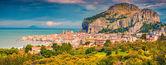 Panorama of the town Cefalu — Stock Photo