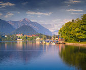 Morning on the Grundlsee lake. — Stock Photo