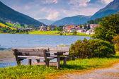 View of San Valentino village — Stock Photo
