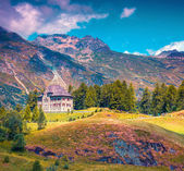 Small fortress on the Maloja Pass — Stock Photo