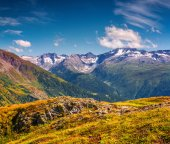 Swiss Alps from the Grimselpass. — Stock Photo