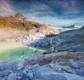 Rhone glacier in Swiss Alps. — Stock Photo