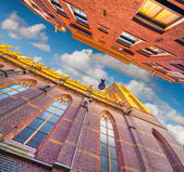 Elements of authentic Dutch architecture — Stock Photo