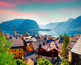 Morning in the Hallstatt village — Stock Photo