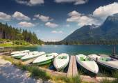 Hintersee lake in Austrian Alps. — Stock Photo