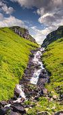 Majestic view on waterfall — Stock Photo