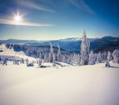 Landscape in the Carpathian mountains. — Stock Photo