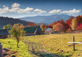 Landscape in the mountain village. — Stock Photo