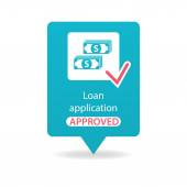 Loan application approved — Stock Vector