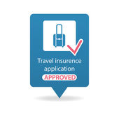 Travel insurance application approved — Stock Vector