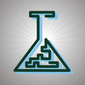 Chemie-Symbol — Stockvektor