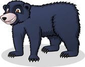 High Quality Black Bear Vector Cartoon Illustration — Stock Vector