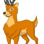 High Quality Deer Vector Cartoon Illustration — Stock Vector #68127277