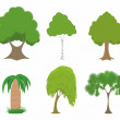 Green trees set — Stock Vector #58346505