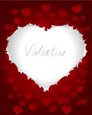 Valentines card with heart shape — Stock vektor