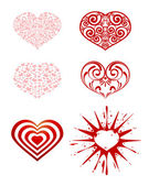 Series of hearts — Stock Vector