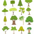 Green trees set — Stock Vector #68706171