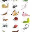 Icons insects set — Stock Vector #68706219
