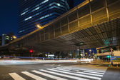 Traffic speeds through the Shibuya — 图库照片