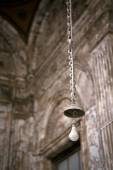Old lamp in the church — Zdjęcie stockowe
