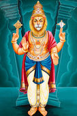 Hindu God Narasimha — Stock Photo