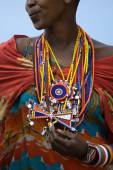 Woman from maasai tribe — Stockfoto