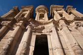 Monestry at Petra, Jordan — Stock Photo