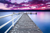 Sunset over jetty — Stock Photo