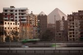 View of the Egyptian city — Stock Photo