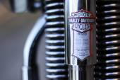 Detail of the motorcycle Harley-Davidson — Foto de Stock