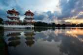 Buddhist temple in Singapore — Stock Photo
