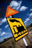 Caution trains — Stock Photo