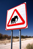 Elephant sign. — Stock Photo
